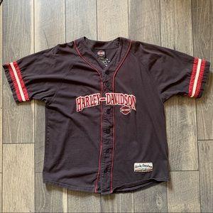 Harley-Davidson Baseball Button Up